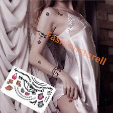 Halloween 4 Sheet Waterproof Temporary Tattoos Body Arm Jewelry Tattoo Sticker