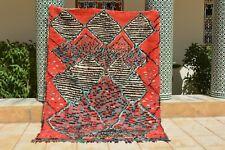 "Vintage Azilal rug, Moroccan Berber rug , Azilal rug 8'4""x5'1"" Ft, beni ourain"