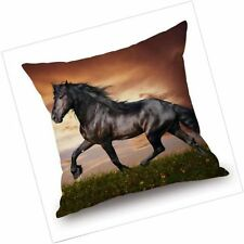 Horse Pillow Case Cushion Cover Cotton Linen Sofa Waist Pillowcase Home Decor