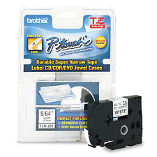 Brother P-Touch TZ Super-Narrow Non-Laminated Tape for P-Touch Labeler 1/8w