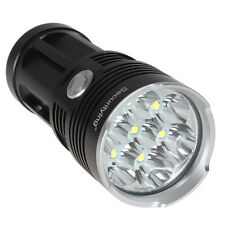 Black Waterproof  SecurityIng 8500LM 7x CREE XM-L T6 LED Flashlight Light Torch
