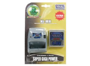 Nikko Super Mega Power Charger + Akkupack Ni-MH 4,8 V NEU OVP