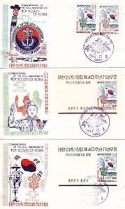 Korea: 1962, FDC, 40th Anniversary, Grp 3 (BSA984)
