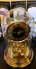 Vintage Schatz Quartz West German Glass Dome Mantle Clock w/Brass