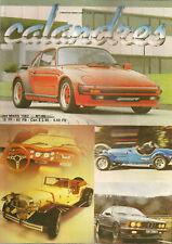 CALANDRES 12 1983 DOSSIER ZENDER EXCALIBUR 35X ALPINA B9 CLASSIC MOTOR CARRIAGES