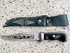 ADLER Messer Bowie-Klinge blank #D7 Taschenmesser // Handwerkermesser schwarz