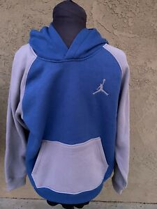 Jumpman Air Michael Jordan Flight Nike Boys Hoodie Blue And Gray NWOT Large