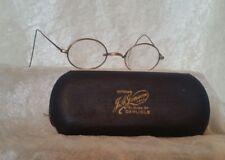 Edwardian Pince Nez Gold Coloured Spectacles Glasses Art Deco Look