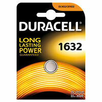 1 X Duracell CR1632 DL1632 Lithium 3V Coin Cell Battery  Free post UK.