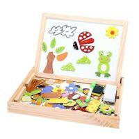 1X(Baby Lernspielzeug malen Holz Puzzle babyspielzeug ab 1 jahr magnetspiel
