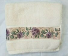 Croscill Chambord Cassis Bath Towel Decorative Floral Amethyst Purple 26 x 47