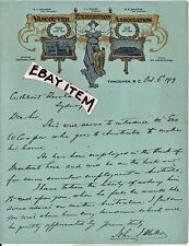 1919 VANCOUVER EXHIBITION ASSOCIATION BRITISH COLUMBIA CANADA John MIller LETTER
