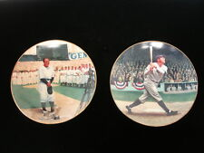 "Lot of (2) 1992 Limited Edition 8"" Collector Plates: Babe Ruth, Lou Gehrig-Nm"