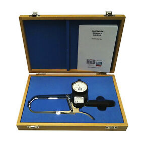 Harpenden Skinfold Caliper with Wood Case, Instruction Manual