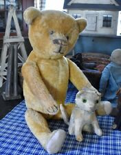 Large Antique Ideal Straw Filled Mohair Teddy Bear