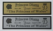 "Princess Diana ""The Princess of Wales"" Nameplate for signed photo collectible"