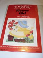 """YOURS TRULY FLOWER GIRL APPLIQUE 12"""" BLOCK QUILTING SEWING PATTERN CRAFTS FABRIC"""