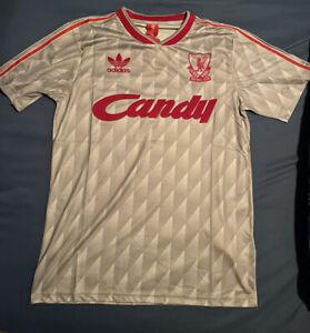 1989/91 Liverpool Away Gray Retro Soccer Jersey ⚽️