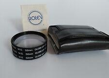Rolev® M.G. 52mm Screw-In Filter CLOSE-UP SET of 3 LENSES (+1,+2,+4) Plus Case!