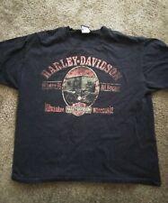 Harley Davidson where it all began t shirt black large destress style 2012