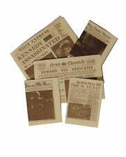 5 Newspapers for a Dolls House, Miniature Papers. 1.12 Scale Newspaper