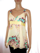 GAP Womens Business Formal Cocktail Casual Floral Print Party Silk Top sz 8 AI90