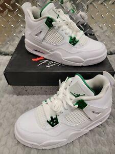 EUC Nike Air Jordan 4 Retro Metallic Green 408452- 113 GS Size 5Y With Box