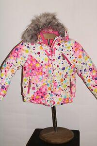 SPYDER Girls sz 6 Faux-Fur hooded Snowboard/snow Jacket