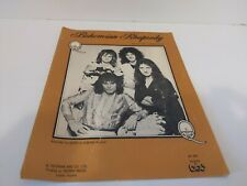 Bohemian Rhapsody Sheet Music Queen Freddie Mercury Elektra Records Trident