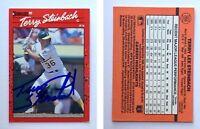 Terry Steinbach Signed 1990 Donruss #268 Card Oakland Athletics Auto Autograph