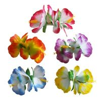 3 Pcs Hawaiian Hibiscus Flower Hair Clips Fancy Dress Accessory Flower au