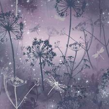 Fantasia Demoiselle Papier peint violet - Arthouse 692306 pailleté