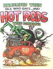 Rat Fink REMEMBER WHEN?? Decal Hot Rat Rod Car  Street Race  Drag Strip