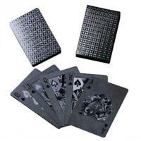 Pokerkarten Plastik Wasserdicht Spielkarten Poker Schwarz 54 Stg Tischspiel E0Y8