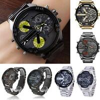 Mens Luxury Watch Stainless Steel Sport Analog Quartz Wristwatches MZCA