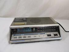 Vintage GE Alarm Clock 7-4663a General Electric Retro Blue LED Dual Wake Snooze