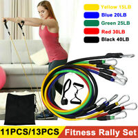 11/13pcs Resistance Bands Elastic Yoga Strap Home Gym Training Fitness Exercise