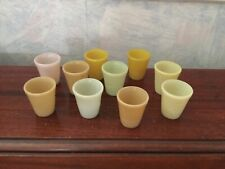 Set Of 10 Pressed Glass Doll Dollhouse Miniatures Tumblers Antique  rare