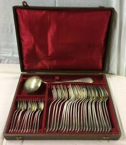 MENAGERES ERCUIS Uniplat Metal ARGENTE Complete Silver Plated Arts de la Table P