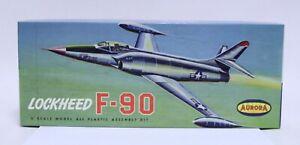 VINTAGE AURORA NO.33-98 LOCKHEED F-90 AIRPLANE MODEL KIT UNUSED IN BOX