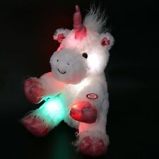 "LED Stuffed Unicorn Mystical Plush Animal 12"" Kids Night Light Toy HOT Gift NEW"