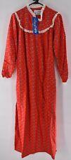 NWT Lanz of Salzburg Womens Red Floral Flannel Nightgown sz Medium NEW Christmas