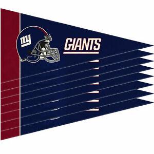 "New York Giants Mini Pennant Banner Flags 4"" x 9"" Fan Cave Decor 8 Pk Set"