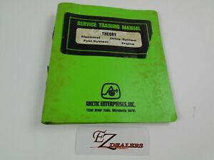 Vintage Arctic Cat Snowmobile Training Manual Theory Fuel System Engine Drive