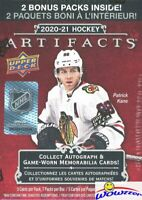 2020/21 Upper Deck Artifacts Factory Sealed Blaster Box! Alexis Lafreniere RC Yr