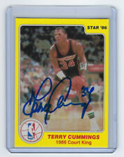 1985-86 BUCKS Terry Cummings signed card Star Co Court Kings #8 AUTO Autographed