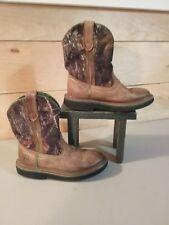 John Deere, Dan Post, Boys Western Cowboy Boots, Size 13 M, Distressed Leather