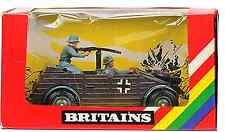 Britains Deetail # 9783 - German Kubelwagen - painted metal vehicle & men - MIB