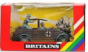 Britains Deetail # 9783 - German Kubelwagen - painted metal mib wrinkled window