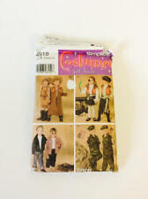 Simplicity Costumes for Kids Pattern #4918 Cow Girl, Cow Boy Pirates Bikers Army
